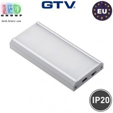 Аккумуляторный LED светильник беспроводной с датчиком движения для шкафов LED COMO IR 1W (зарядка через USB пров 0,5м, IP20, 120*, 4000K, 40-50lm)