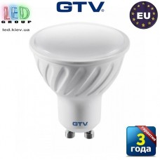 Светодиодная LED лампа GTV, 7,5W, GU10, MR16, 3000K. ЕВРОПА!!! Гарантия - 3 года