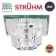 Потолочный светильник/корпус, Strühm Poland, встроенный, стеклянный, квадратный, прозрачный, 1хGU4, MIRA D CLEAR (HL800). ЕВРОПА!