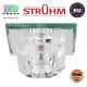 Потолочный светильник/корпус, Strühm Poland, встроенный, стеклянный, квадратный, прозрачный, 1хGU4, MIRA D CLEAR (HL800). ЕВРОПА