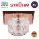 Потолочный светильник/корпус, Strühm Poland, встроенный, стеклянный, квадратный, коричневый, 1хGU4, MIRA D BROWN (HL800). Польша!