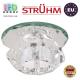 Потолочный светильник/корпус, Strühm Poland, встроенный, стеклянный, круглый, прозрачный, 1хGU4, MIRA C CLEAR (HL801). ЕВРОПА