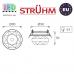 Потолочный светильник/корпус, Strühm Poland, встроенный, стеклянный, круглый, коричневый, 1хGU4, MIRA C BROWN (HL801). ЕВРОПА