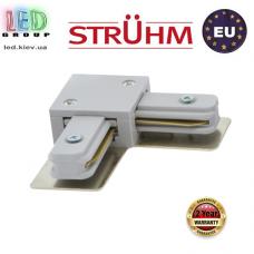 Соединитель электрический, Strühm Poland, для шинопровода, алюминий + медь + пластик, L 90°, серебряный, CONNECTOR. ЕВРОПА!