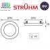 Потолочный светильник/корпус, Strühm Poland, встроенный, алюминий + стекло, круглый, прозрачный/хром, 1хGU10, RIANA C CHROME. ЕВРОПА