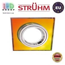 Потолочный светильник/корпус, Strühm Poland, встроенный, алюминий + стекло, квадратный, хамелеон/хром, 1хGU10, STAN D MULTI. ЕВРОПА