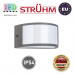 Cветильник/корпус, Strühm Poland, IP54, фасадный, накладной, алюминий + PC, тёмно-серый, 1xE27, GRETA. ЕВРОПА