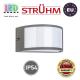 Cветильник/корпус, Strühm Poland, IP54, фасадный, накладной, алюминий + PC, темно-серый, 1xE27, GRETA. ЕВРОПА