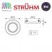 Потолочный светильник/корпус, Strühm Poland, встроенный, алюминий, круглый, серебряный, 1хGU10, ALUM C. ЕВРОПА