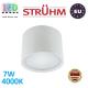Потолочный светодиодный светильник, Strühm Poland, 7W, 4000K, накладной, алюминиевый, белый, RA≥80, ROLEN LED. ЕВРОПА