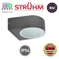 Cветильник/корпус, Strühm Poland, IP54, фасадный, накладной, алюминий + PC, круглый, тёмно-серый, 1xE27, LIMO. ЕВРОПА