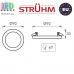 Потолочный светильник/корпус, Strühm Poland, врезной, алюминий + стекло, круглый, хром, 1хGU10, VIKI C CHROME. ЕВРОПА