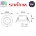 Потолочный светодиодный светильник, Strühm Poland, 5W, 3000K, врезной, пластиковый, круглый, белый, RA>80, MONI LED C. ЕВРОПА!