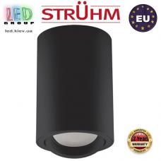 Потолочный светильник/корпус, Strühm Poland, накладной, алюминий + медь + пластик, круглый, чёрный, 1хGU10, BEMOL DWL. ЕВРОПА