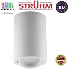 Потолочный светильник/корпус, Strühm Poland, накладной, алюминий + медь + пластик, круглый, белый, 1хGU10, BEMOL DWL. ЕВРОПА