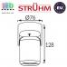 Потолочный светильник/корпус, Strühm Poland, накладной, алюминий + медь + пластик, круглый, чёрный, 1хGU10, DOMEN. ЕВРОПА