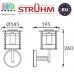 Настенный светодиодный светильник на солнечной батарее, Strühm Poland, 0.12W, 6500K, IP44, накладной, нержавеющая сталь, хром, RA≥70, ESTERA LED WLL. ЕВРОПА