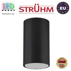 Потолочный светильник/корпус, Strühm Poland, накладной, алюминий, круглый, чёрный, 1хGU10, OTTO. ЕВРОПА