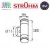 Cветильник/корпус, Strühm Poland, IP54, фасадный, накладной, нержавеющая сталь + стекло, круглый, матовый хром, 2хGU10, TARAS WLL. Польша!