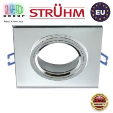 Потолочный светильник/корпус, Strühm Poland, встроенный, алюминий + стекло, квадратный, прозрачный/хром, 1хGU10, SELENA D CLEAR. ЕВРОПА