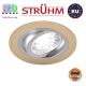 Потолочный светильник/корпус, Strühm Poland, встроенный, алюминий, круглый, бежевый/хром, 1хGU10, ALUM C. Польша!