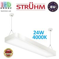 Подвесной светодиодный светильник, Strühm Poland, 24W, 4000K, накладной, сталь + пластик, белый, RA>80, FLARA LED. ЕВРОПА!