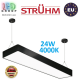Подвесной светодиодный светильник, Strühm Poland, 24W, 4000K, сталь + пластик, чёрный, RA≥80, FLARA LED. ЕВРОПА