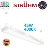 Подвесной светодиодный светильник, Strühm Poland, 45W, 4000K, накладной, сталь + пластик, белый, RA>80, FLARA LED. ЕВРОПА!