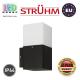 Cветильник/корпус, Strühm Poland, IP44, фасадный, накладной, алюминий + PC, квадратный, чёрный, 1xE27, GRYF. ЕВРОПА