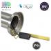 Светильник/корпус master LED, IP44, накладной, садово-парковый, нержавеющая сталь + PC, круглый, серебристый, 1xE27, Manila. Польша!