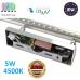 Настенный светодиодный светильник, master LED, 5W, 4500K, IP20, RA≥80, накладной, Sonia, нержавеющая сталь, хром. ЕВРОПА!