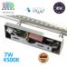 Настенный светодиодный светильник, master LED, 7W, 4500K, IP20, RA>80, накладной, Sonia, нержавеющая сталь, хром. ЕВРОПА!