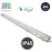 Корпус светильника для ламп Т8, master LED, 2х1200мм, IP65, двусторонний, накладной, ABS + полистирол, прозрачный, Kosma. ЕВРОПА!