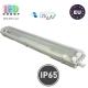 Корпус для ламп Т8, master LED, 2х600мм, IP65, односторонний, накладной, ABS + полистирол, прозрачный, Clear. ЕВРОПА!