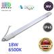 Светодиодный линейный светильник, master LED, 18W, 6500K, IP65, RA≥70, накладной, PC, серый. ЕВРОПА!