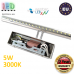 Настенный светодиодный светильник, master LED, 5W, 3000K, IP20, RA>80, накладной, Bruno, нержавеющая сталь, хром. ЕВРОПА!