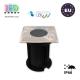 Светильник/корпус master LED, IP66, тротуарно-грунтовой, алюминий + закалённое стекло, квадратный, 1хGU10. ЕВРОПА!