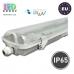 Корпус для ламп Т8, master LED, IP65, односторонний, накладной, ABS + полистирол, прозрачный, 2х1500мм, Clear. ЕВРОПА!