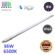 Светодиодный линейный светильник, master LED, 36W, 6500K, IP65, RA≥70, накладной, PC, серый. ЕВРОПА!