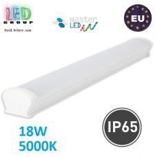 Светодиодный линейный светильник, master LED, 18W, 5000K, IP65, PF>0.9, SXR, PC. Польша!