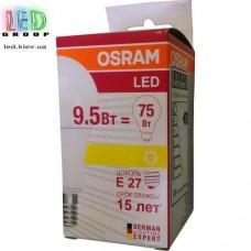 Светодиодная лампа OSRAM, 9.5W, E27, A60, 2700K - тёплое свечение