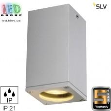 Светильник/корпус SLV, потолочный, алюминий/стекло, IP21, квадрат, серебристый, ТЕО. Германия! Гарантия 5 лет!!!