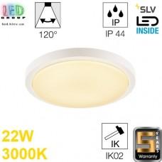 Настенный/потолочный LED светильник SLV 22W, 3000K, датчик движения, AINOS, белый. Германия!