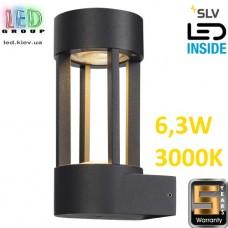 Настенный LED светильник SLV, 6.3W, 3000K, цвет антрацит, SLOTS WALL. Германия