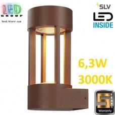 Настенный LED светильник SLV, 6.3W, 3000K, бурого цвета, SLOTS WALL. Германия