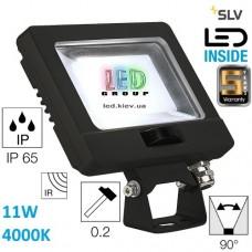 Светодиодный LED прожектор SLV, 11W, 4000К, чёрный, SPOODI SENSOR. Германия!!! Гарантия - 5 лет!!!