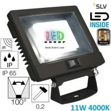 Светодиодный LED прожектор SLV, 30W, 4000К, чёрный, SPOODI SENSOR. Германия!!! Гарантия - 5 лет!!!