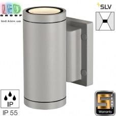 Светильник/корпус SLV, настенный, алюминий/стекло, IP55, круглый, серебристый, MYRA. Германия!
