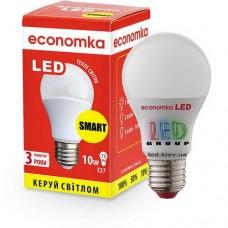 Светодиодная лампа SMART ECONOMKA, А60, LED, 10W, Е27, 2800K