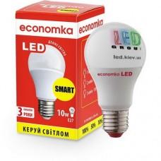 Светодиодная лампа SMART ECONOMKA, А60, LED, 10W, Е27, 4200K